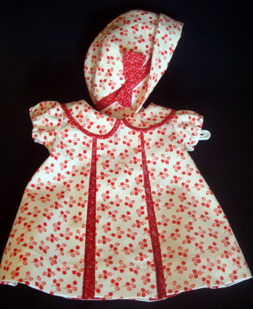 Red Pleat Patsy Doll Dress