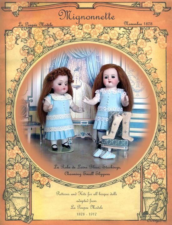 Mignonette Doll Pattern Blue
