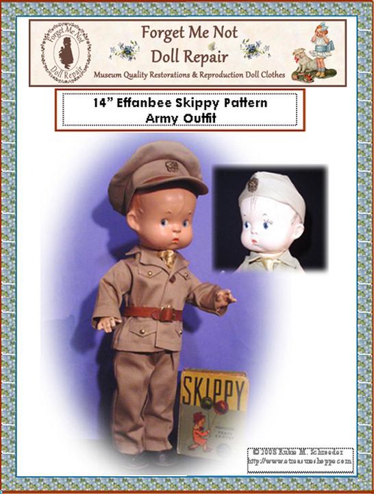 Army Skippy Doll Pattern