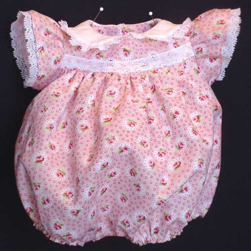 Scootles Romper - Darling bubble outfit with tons of lace. pink