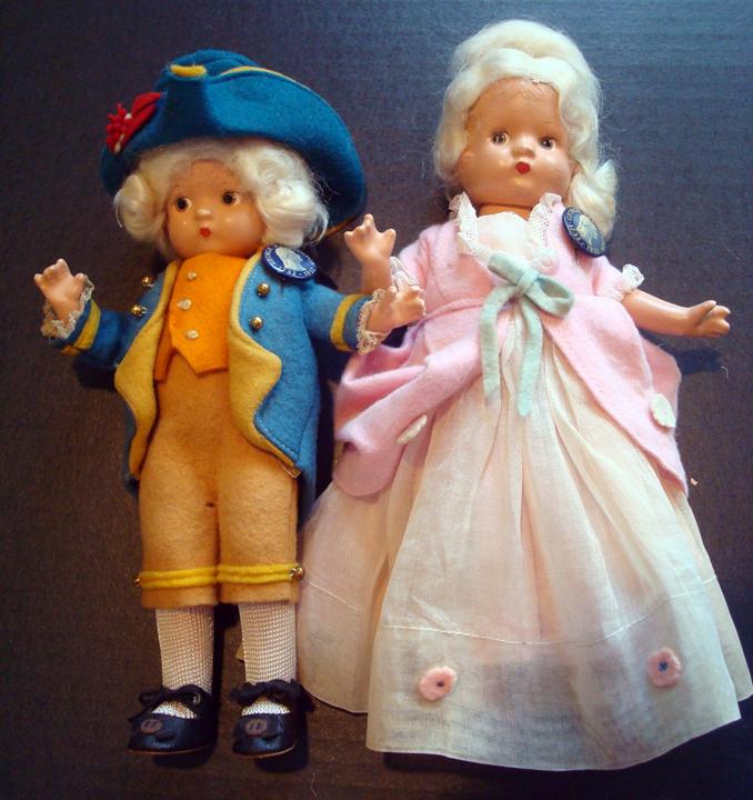 George & Martha Washington Dolls