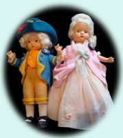 George & Martha Washington Dolls