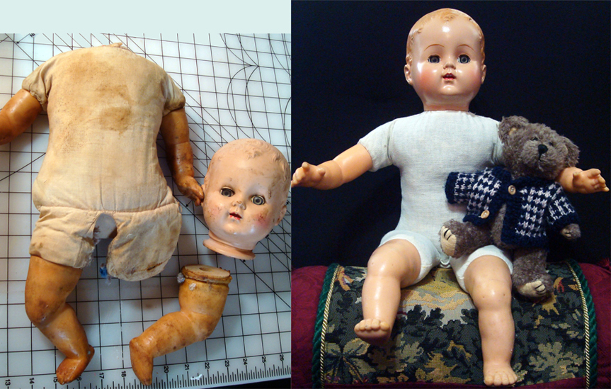 hard plastic & vinyl doll