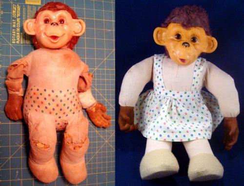Stuffed Animal Repair – GeGe the Monkey