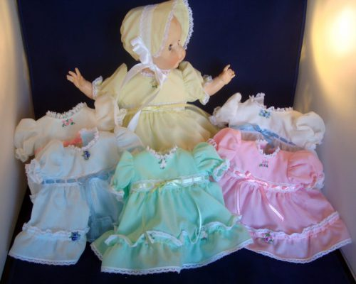 vinyl baby doll clothes