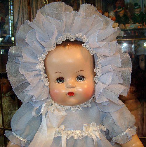 Organdy Baby Doll Dress, Bonnet, Slip