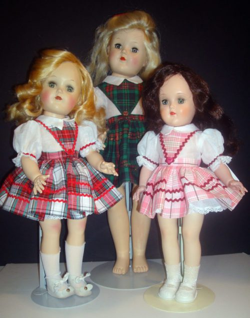 V-Front Plaid Toni Doll Dress