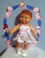 Kewpie Doll Ruffled Sunsuit