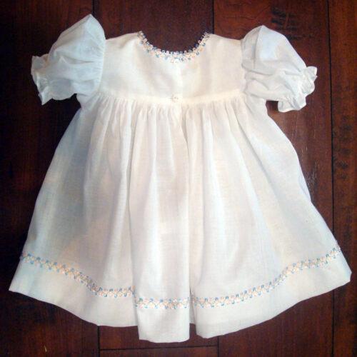 white baby doll dress