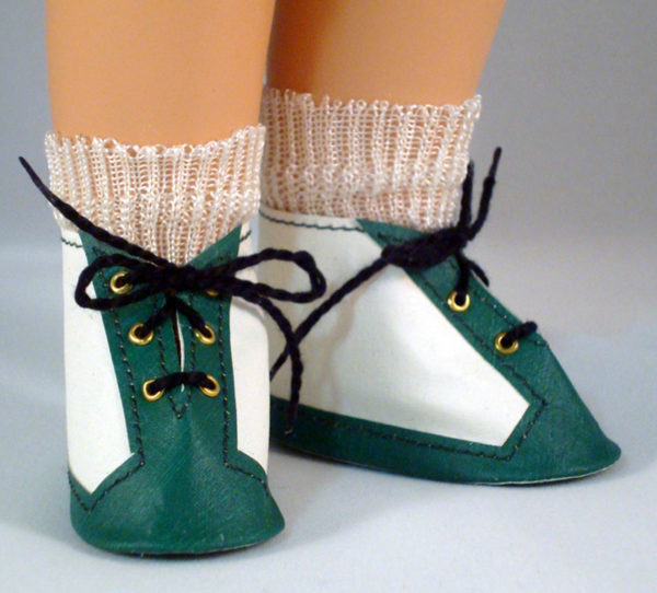 Green Skippy Lace Up Shoes
