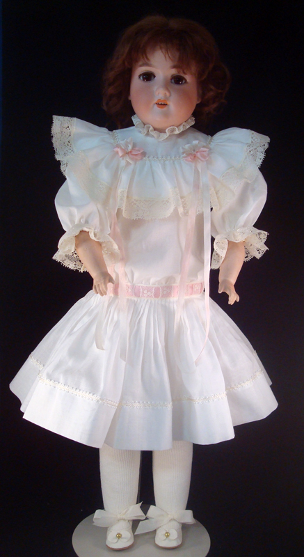 Antique Style Doll Dress front