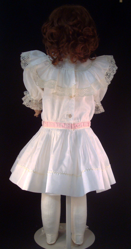 Antique Style Doll Dress back
