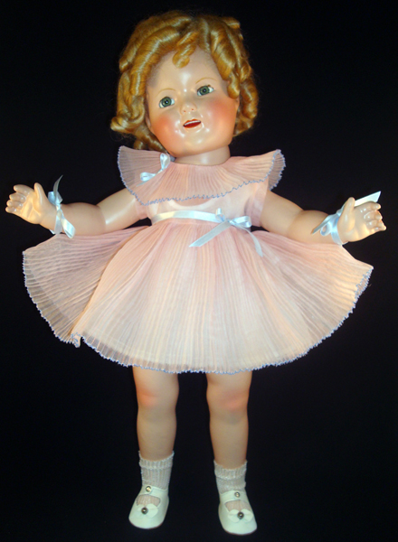 Shirley Temple Doll Pleated Dance Dress