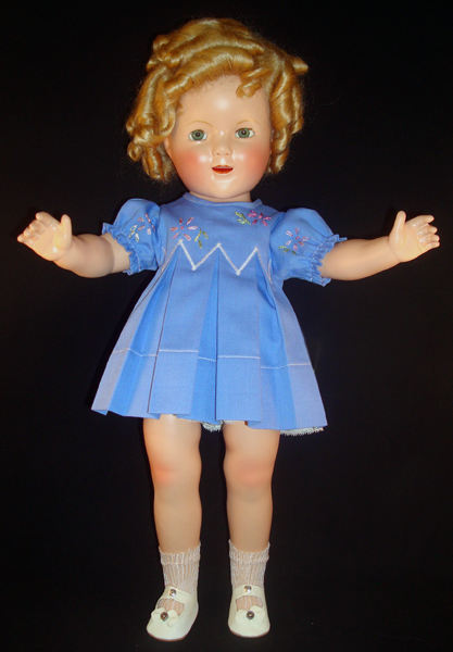 Shirley Temple Doll Embroidered Pique Dress