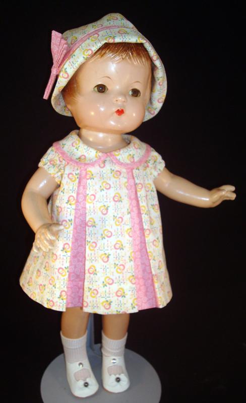 Pink Pleat Patsy Doll Dress