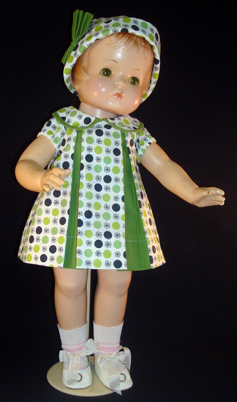 Green Pleat Patsy Doll Dress