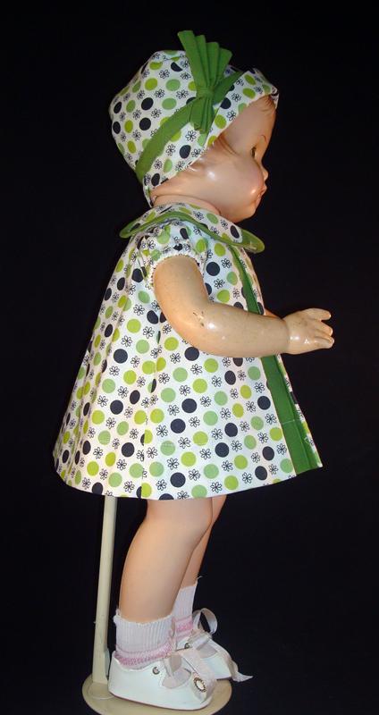 Green Pleat Patsy Doll Dress
