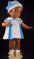 Blue Pleat Patsy Doll Dress