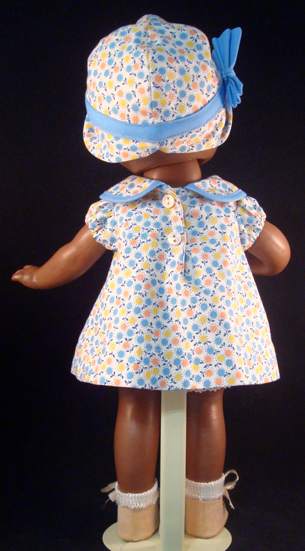 Blue Pleat Patsy Doll Dress