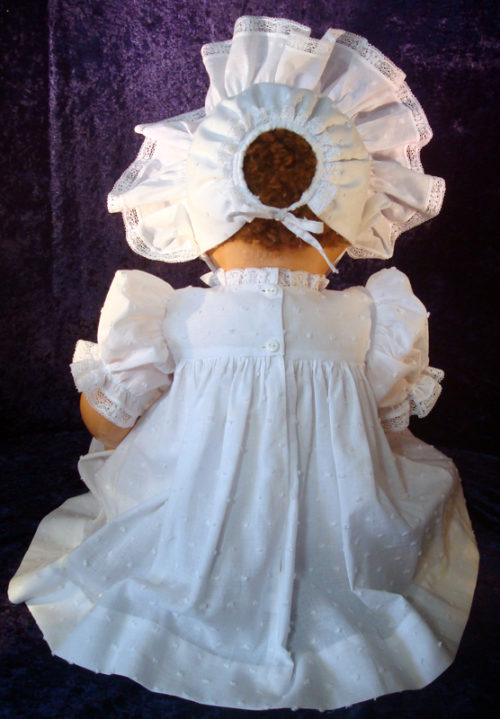 white dotted baby doll dress