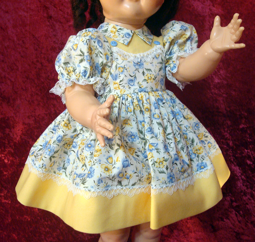 Saucy Walker Doll Dress Yellow 2-Color