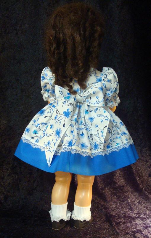 Saucy Walker Doll Dress Blue Two-Tone