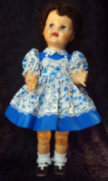 Saucy Walker Doll Dress Blue Two-Tone