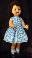 Saucy Walker Doll Sundress-Blue