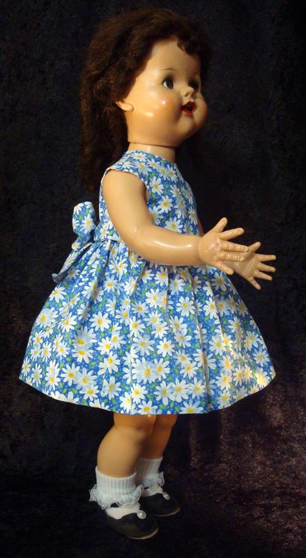 Saucy Walker Doll Dress Blue Sundress