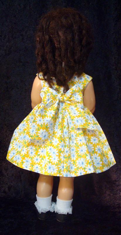 Saucy Walker Doll Sundress-Yellow