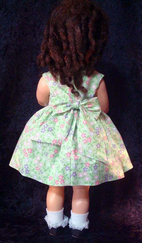 Saucy Walker Doll Sundress-Green