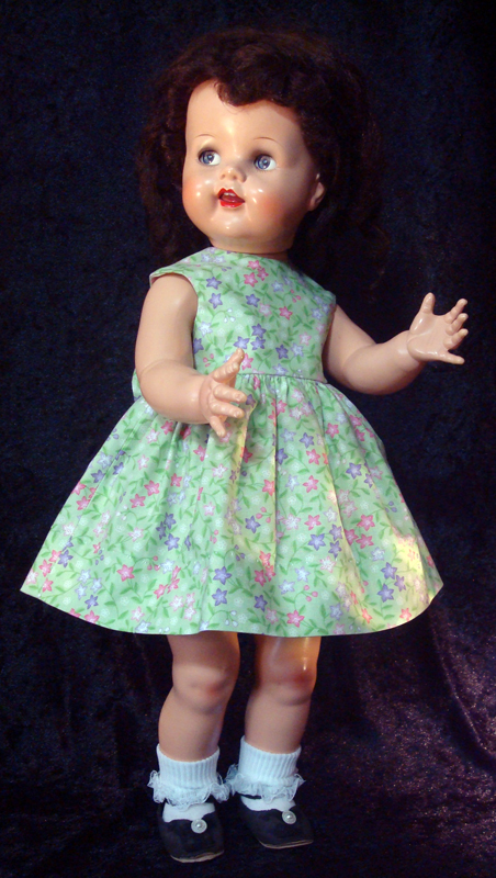 Saucy Walker Doll Sundress-Green