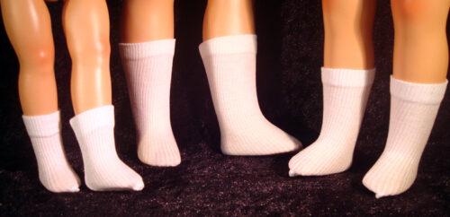 Ribbed Rayon Doll Socks