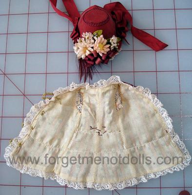 """7""""Bisque Doll Silk Dress3"""