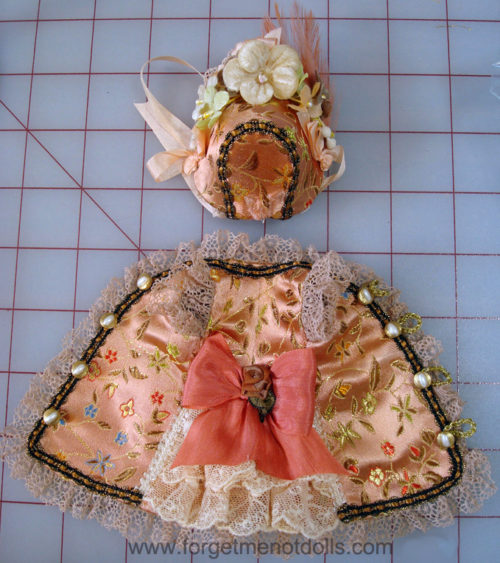 """7""""Bisque Doll Silk Dress2"""