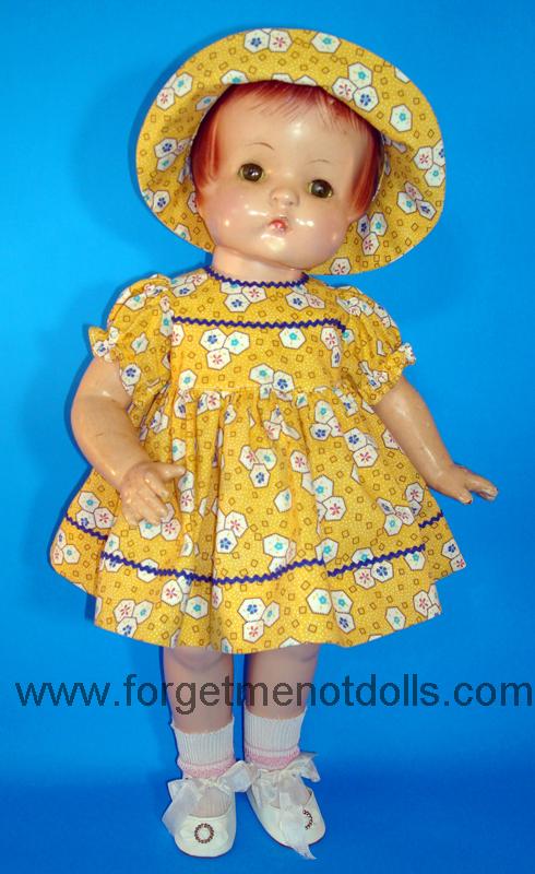 Yellow Patsy Day Dress&Hat