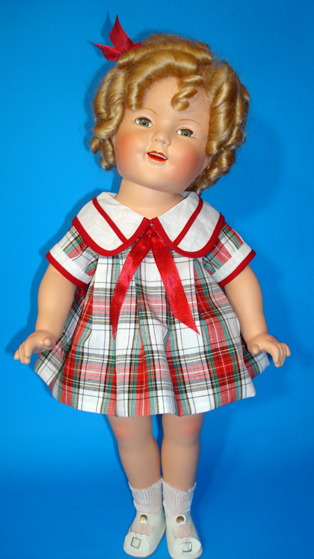 Shirley Temple Doll Plaid Dress