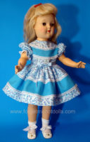 Turquoise Overlay Toni-Doll Dress
