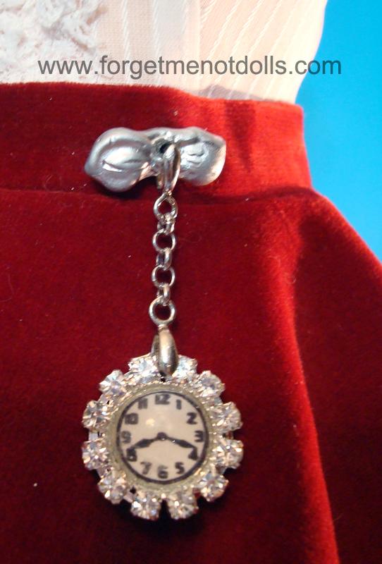 CissyDoll Chatelaine Watch Pin