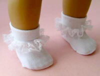 Ruffled Nylon Doll Socks