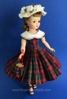 CissyDoll RedPlaid Dress &Hat