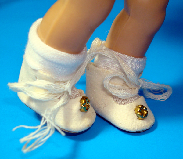 """GinnyDoll AnkleTie Shoes 7-8"""""""